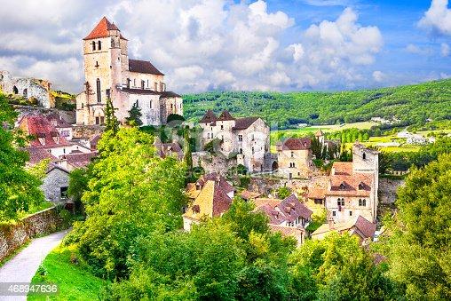 istock Beautiful Saint-Cirq-Lapopie, France 468947636