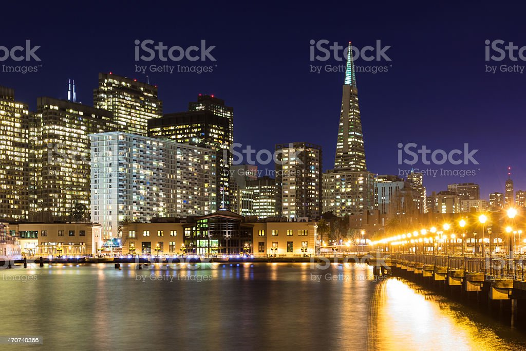 Beautiful San Francisco at Night stock photo