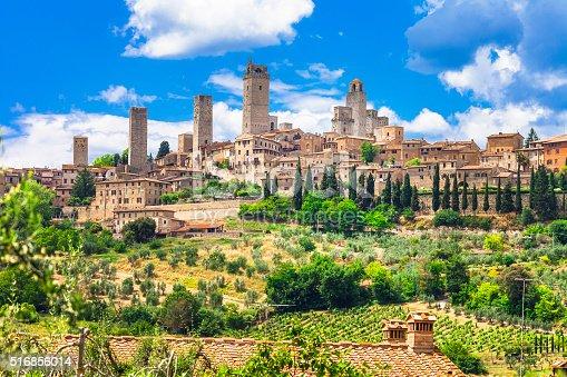 Impressive Medieval Town,San Gimignano,Tuscany,Italy.