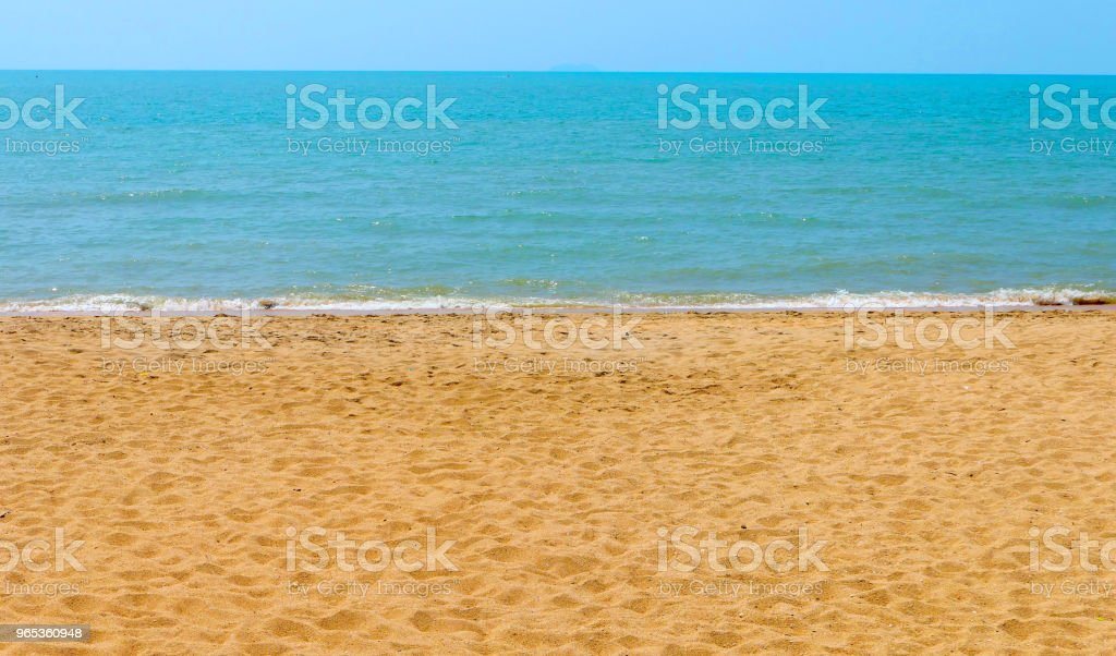 Beautiful sand beach zbiór zdjęć royalty-free