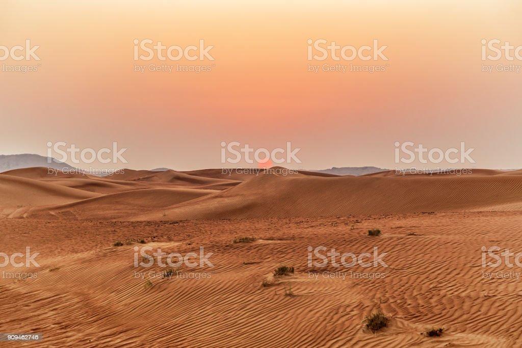 Schönen Sanddünen in der Wüste. – Foto