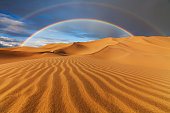 sand dunes sky panorama background camel