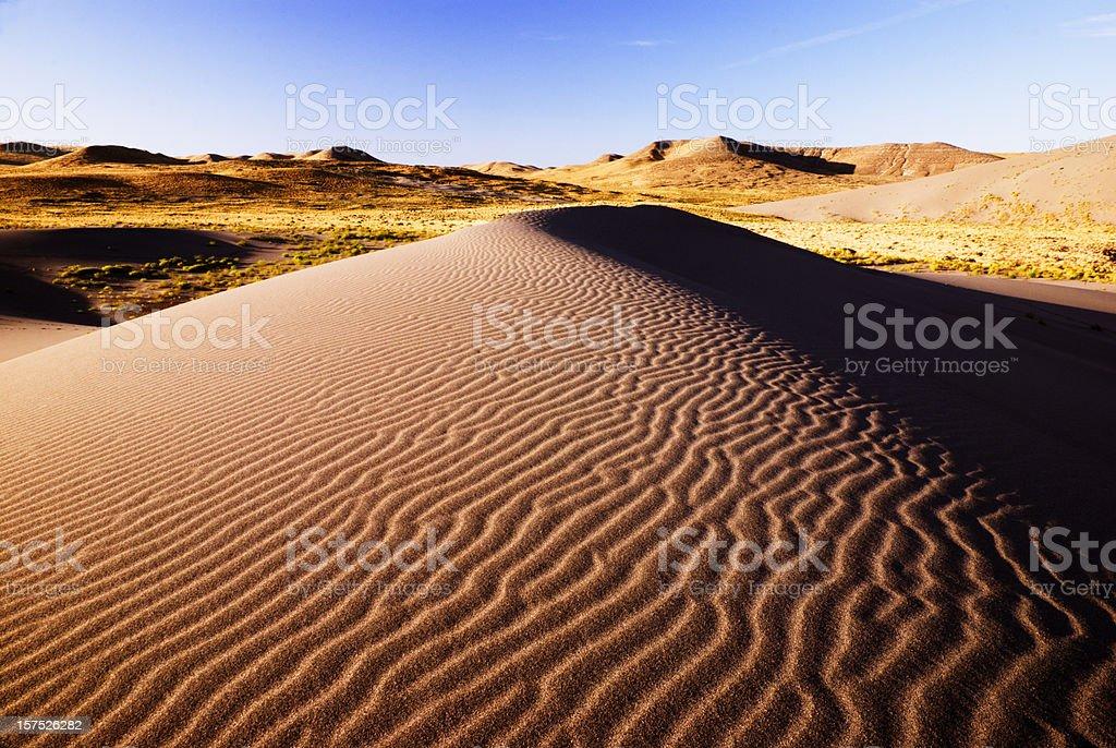 Beautiful sand dunes royalty-free stock photo