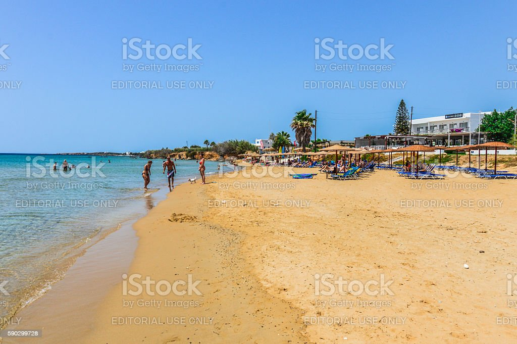 Beautiful sandy beach in Paros, Greece Стоковые фото Стоковая фотография