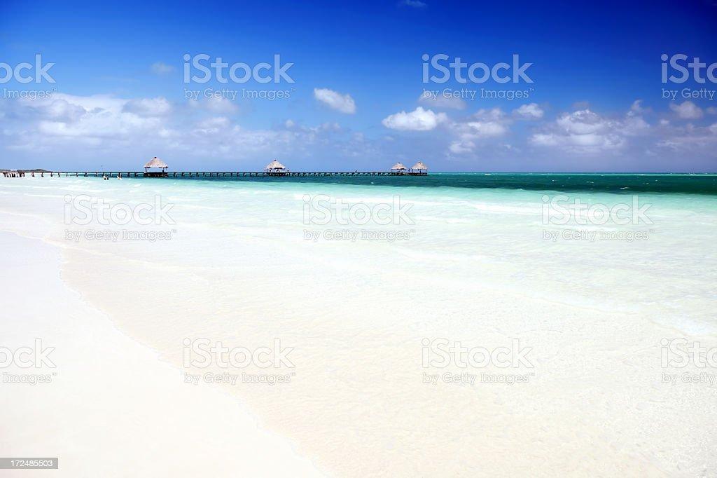 Beautiful sandy beach royalty-free stock photo
