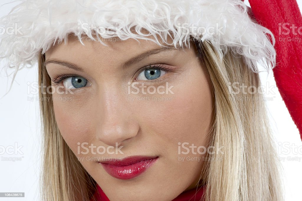 Beautiful Santa Claus girl royalty-free stock photo