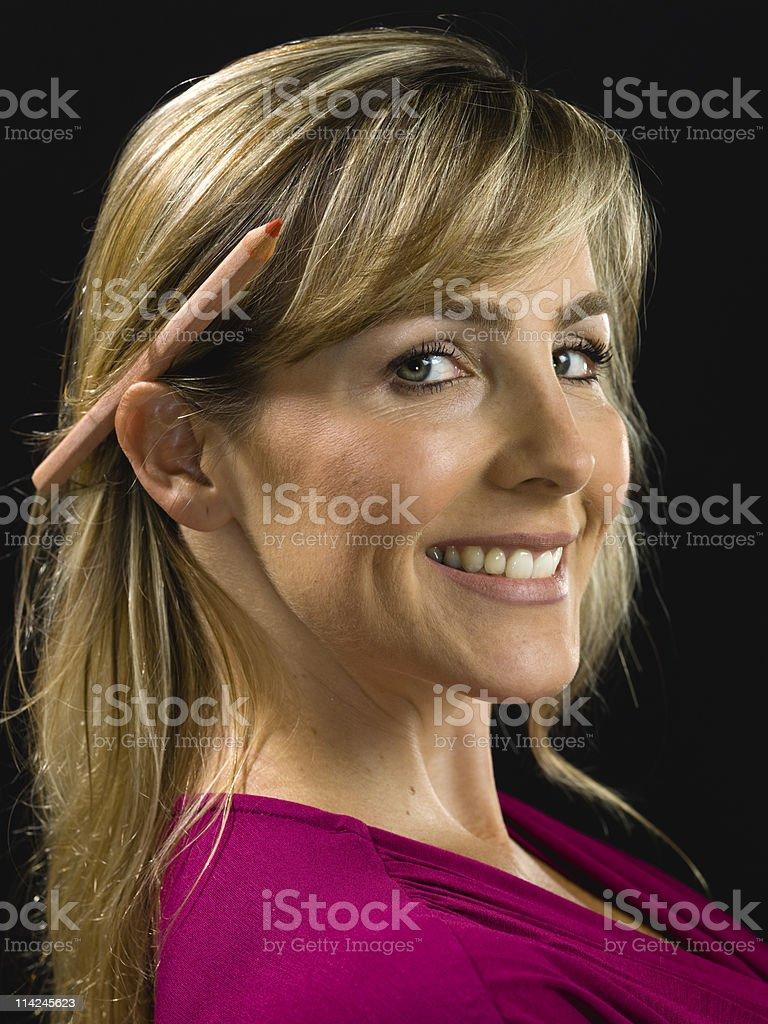 Beautiful Scandinavian Woman royalty-free stock photo