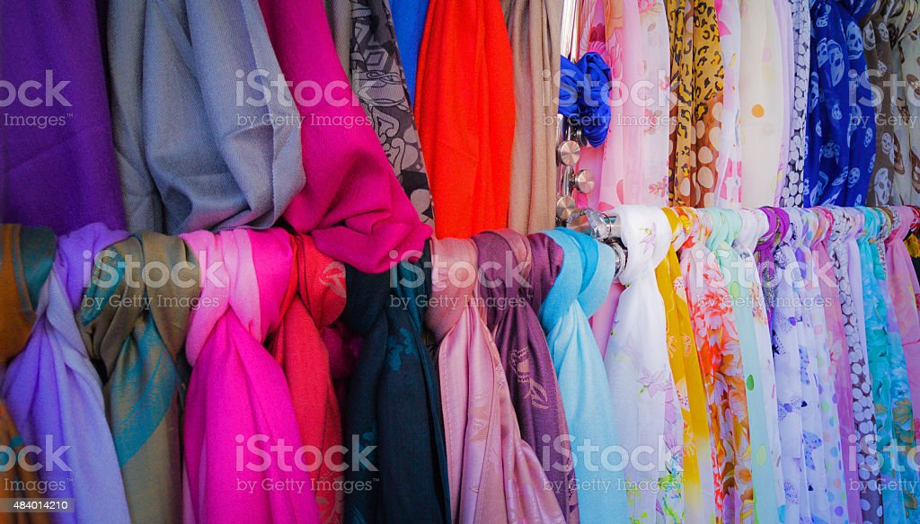 Beautiful Scarves stock photo