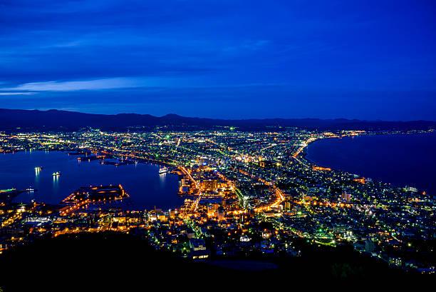 美しい風景の函館 japan5 - 北海道 ストックフォトと画像