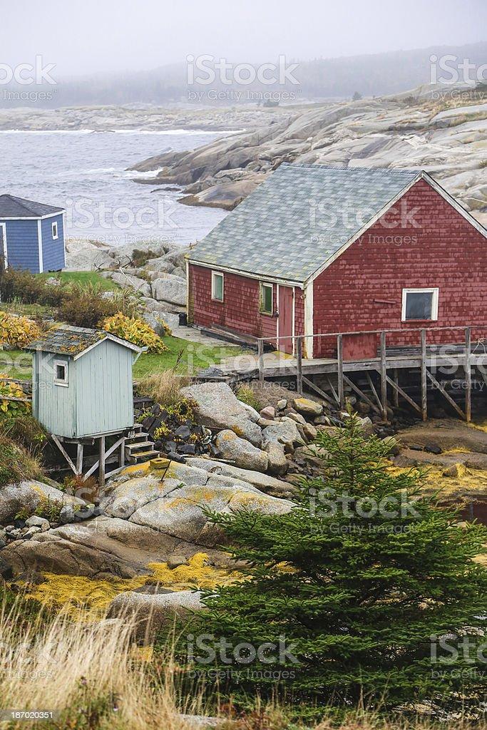 Beautiful Scene in Peggy's Cove Nova Scotia royalty-free stock photo