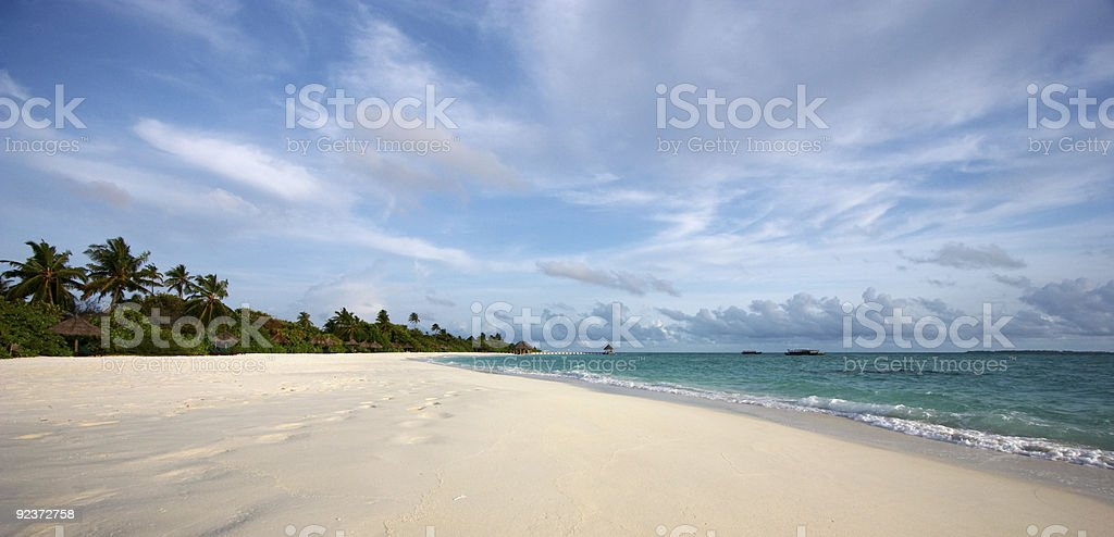 Beautiful scenery at the beach royalty-free stock photo