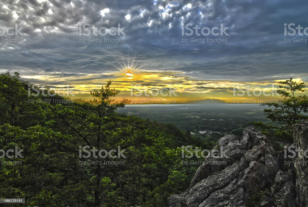 beautiful scenery from crowders mountain in north carolina royalty-free stock photo