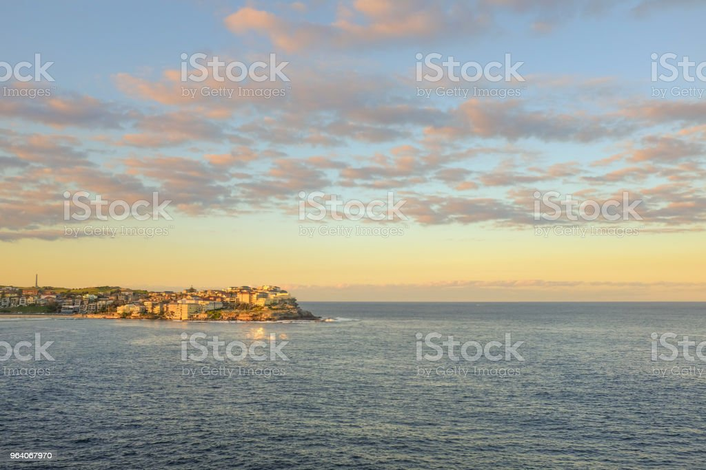 Beautiful scenery from on the view point at Bodi Beach, Australia at sunset. - Royalty-free Australia Stock Photo