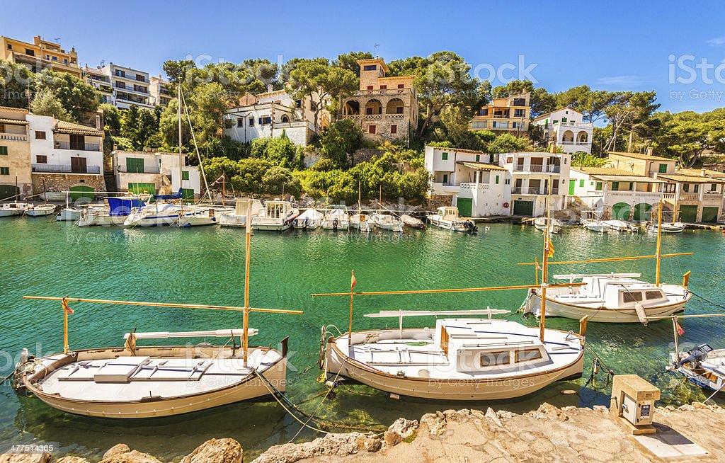 Beautiful scenery in Cala Figuera (Mallorca) stock photo