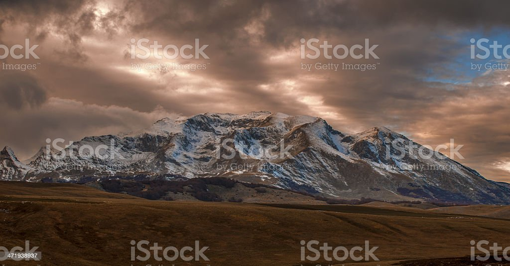 Beautiful Scenery of Durmitor Mountain royalty-free stock photo