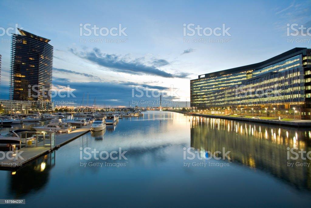 Beautiful scenery of Melbourne, Australia at dusk royalty-free stock photo