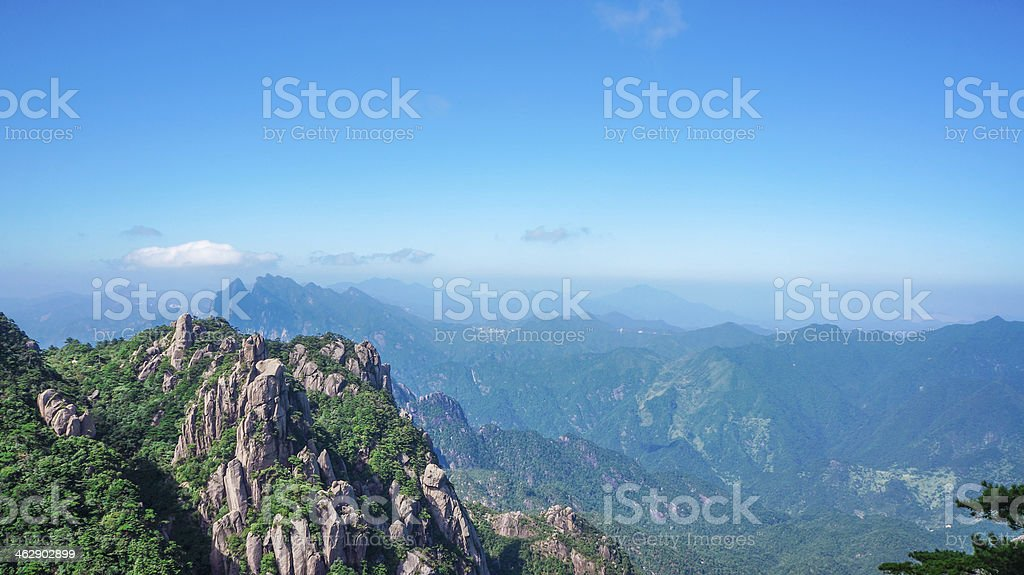beautiful scenery of Mount Sanqingshan in China stock photo