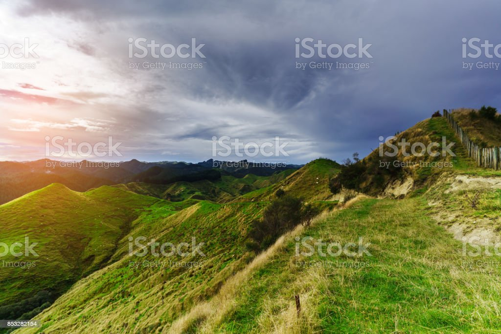 Beautiful scenery of mountains along the way on whanganui river road beautiful scenery of mountains along the way on whanganui river road in national park in autumn voltagebd Images