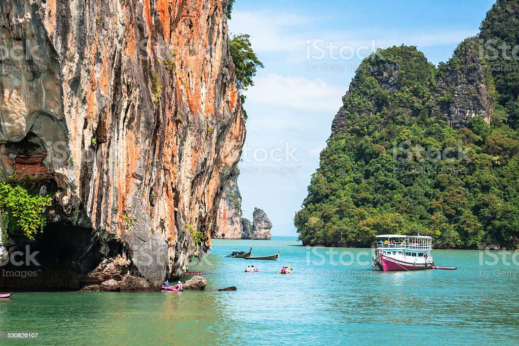 Beautiful scenery of Phang Nga National Park in Thailand stock photo