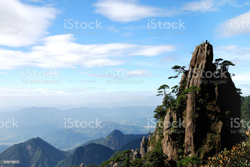 Beautiful Scenery of Sanqing Mountain in Jiangxi Province China stock photo