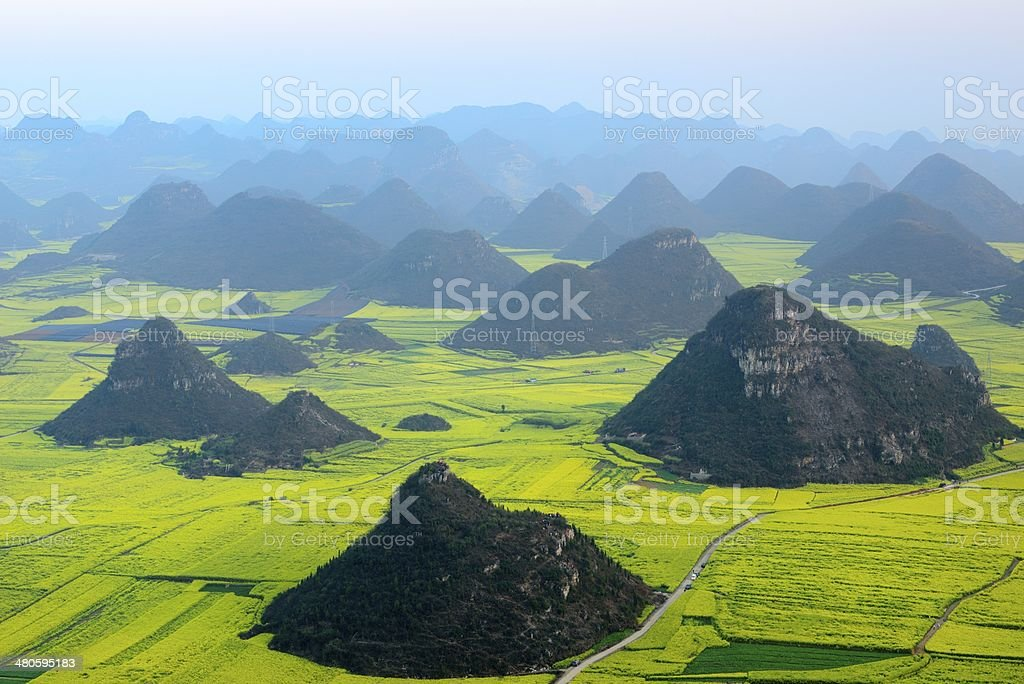 Beautiful scenery of the field, in Yunnan Province, China stock photo