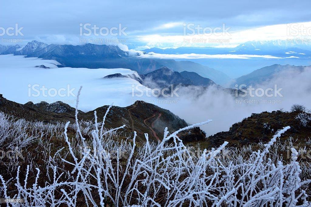 Beautiful scenery of the Niubei mountain, in Sichuan province, China stock photo
