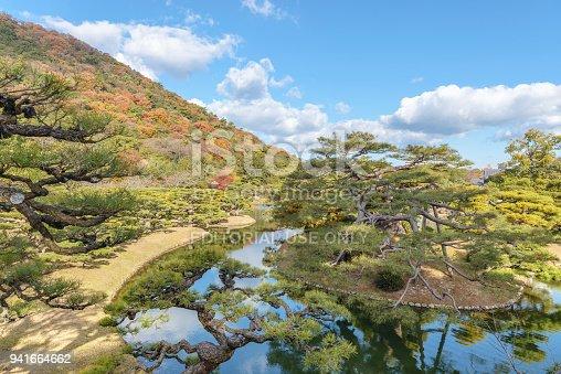 istock Beautiful scenery of the Ritsurin park garden 941664662