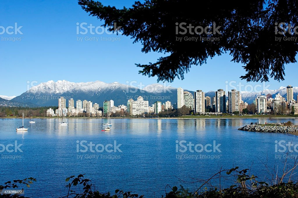 Beautiful Scenery of Vancouver BC stock photo