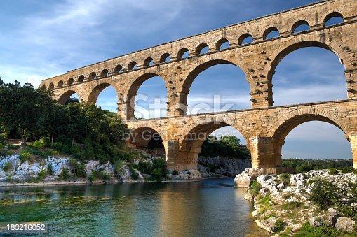An HDR image of Pont du Gard, France