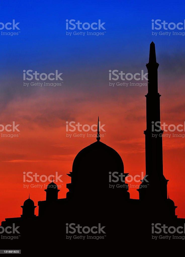 Beautiful sceney mosque royalty-free stock photo