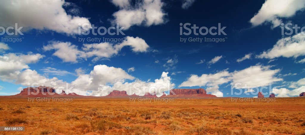 Beautiful scenic landscape from monument valley america royalty-free stock photo