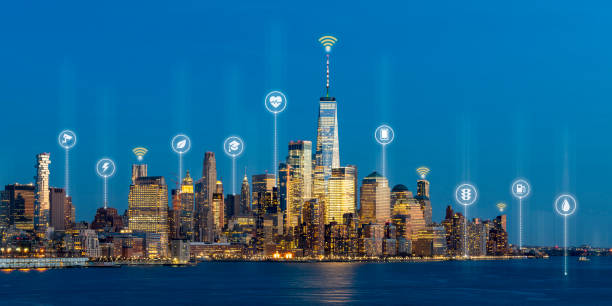 Beautiful scenic night view of new york manhattan usa in smart city picture id1159555342?b=1&k=6&m=1159555342&s=612x612&w=0&h=l2c6y2yfep61rceu blcvkumvd3cgutmnvnymrpy5lu=