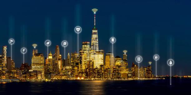 Beautiful scenic night view of new york manhattan usa in smart city picture id1159560604?b=1&k=6&m=1159560604&s=612x612&w=0&h=jm kpgr9roelle1tk8dad vi4h9k0jpzyemqd4c3uay=