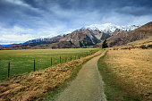beautiful scenic of castle hill in arthur's pass national park most popular traveling destination in new zealand