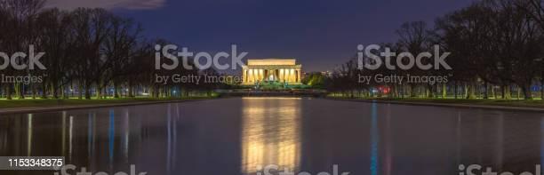 Beautiful scenic panorama night view of abraham lincoln memorial in picture id1153348375?b=1&k=6&m=1153348375&s=612x612&h=p4lmpv2whrfqxfnbaxev hjietk0o2dzm8uyekm9dfc=