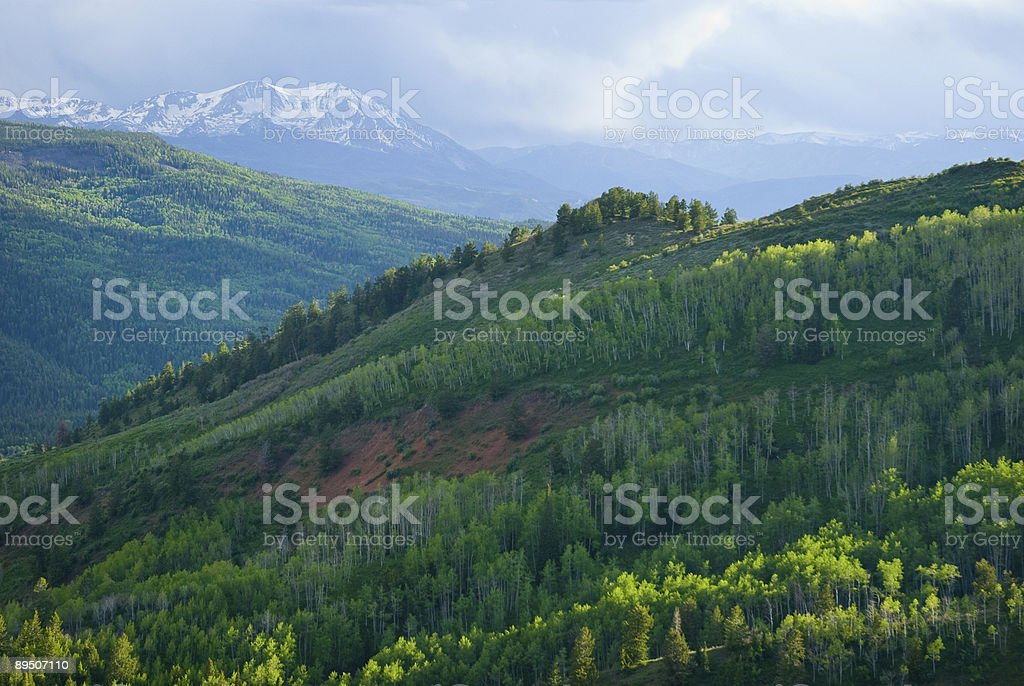 Beautiful Scenic Summer Mountain View royalty-free stock photo
