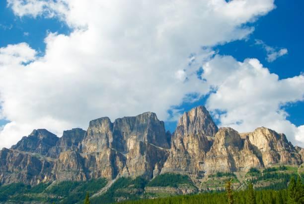 Beautiful Scenic View of Rocky Mountain Ridgeline stock photo