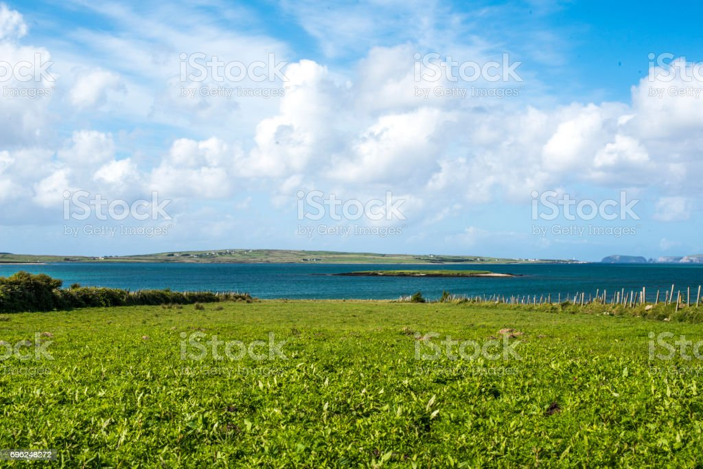 Beautiful scenic views of the Atlantic ocean along the wild Atlantic way royalty-free stock photo