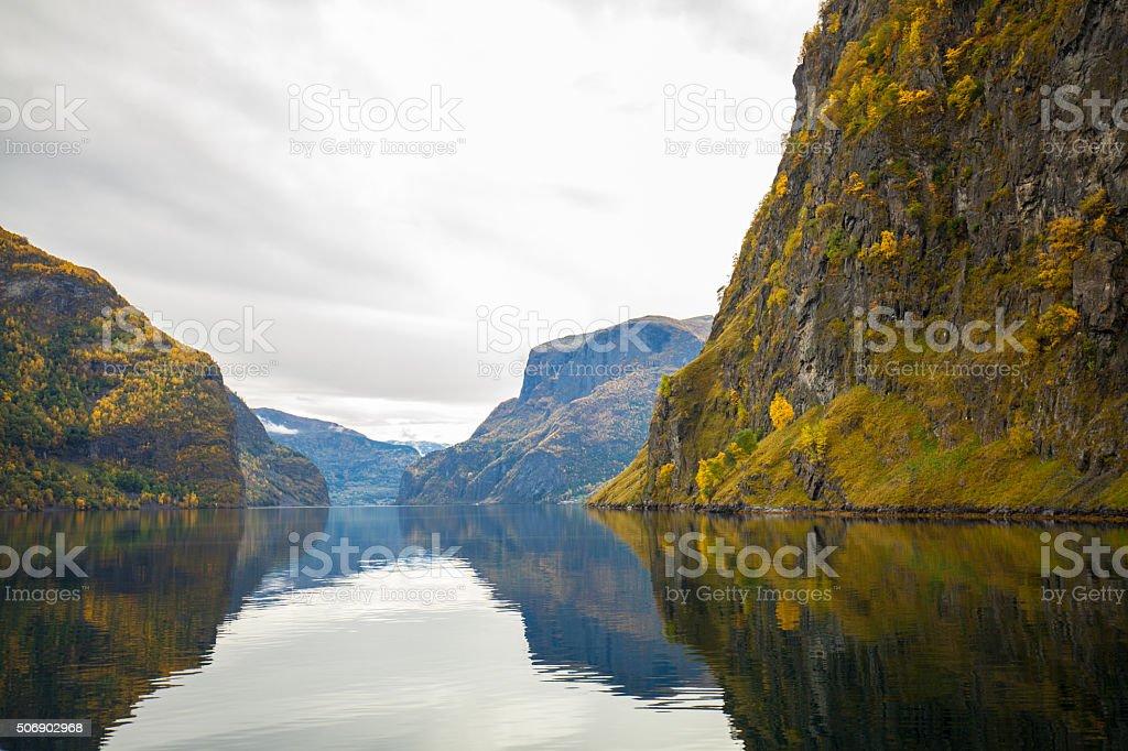 beautiful Scenics of Sognefjord,Norway stock photo