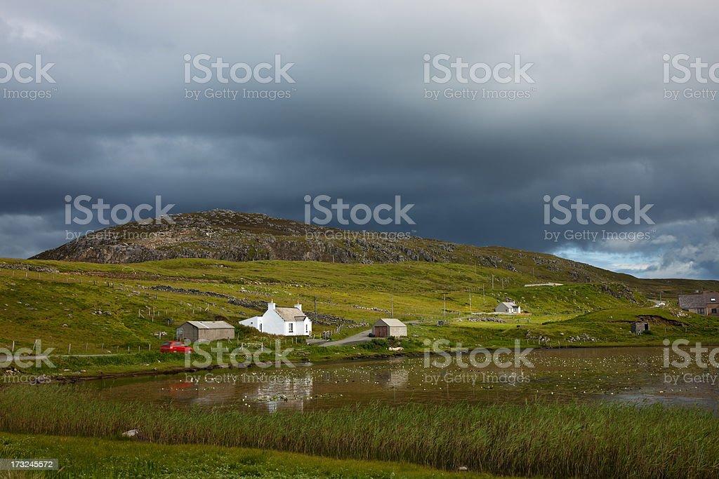 Beautiful Scotland's Landscape, Isle of Lewis, Outer Hebrides, UK stock photo
