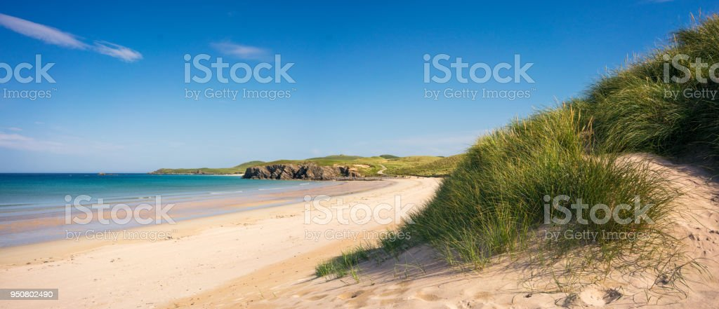 Beautiful Scottish Beach on the North Coast stock photo