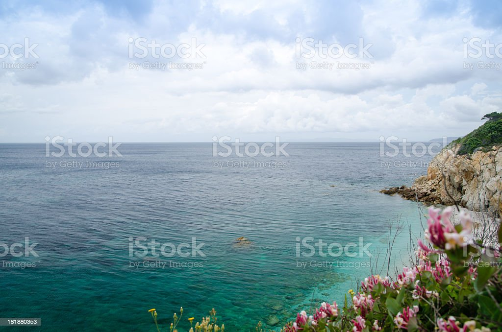 Beautiful sea at Elba island, Tuscany, Italy royalty-free stock photo