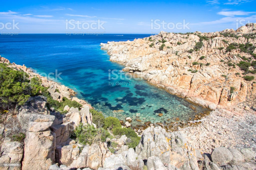 Beautiful sea coastline, Sardinia, Italy zbiór zdjęć royalty-free