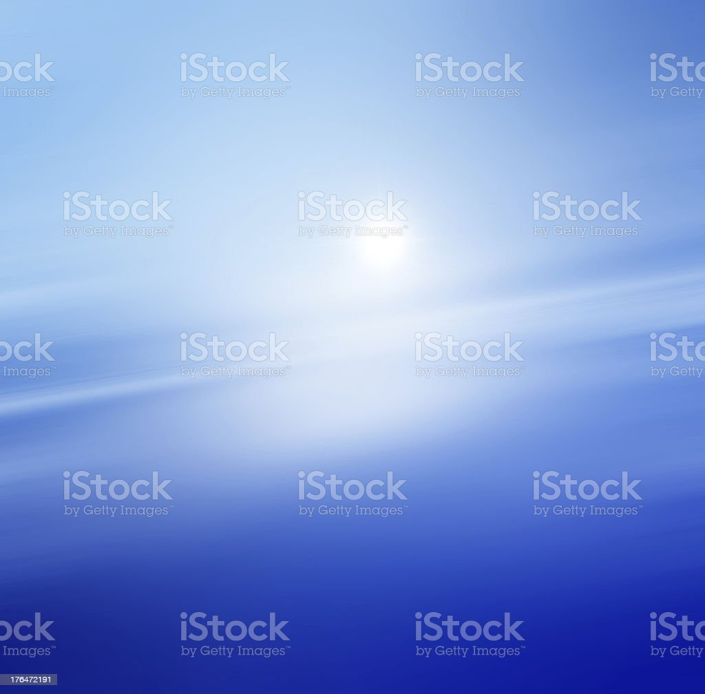 Beautiful sea horizon stock photo