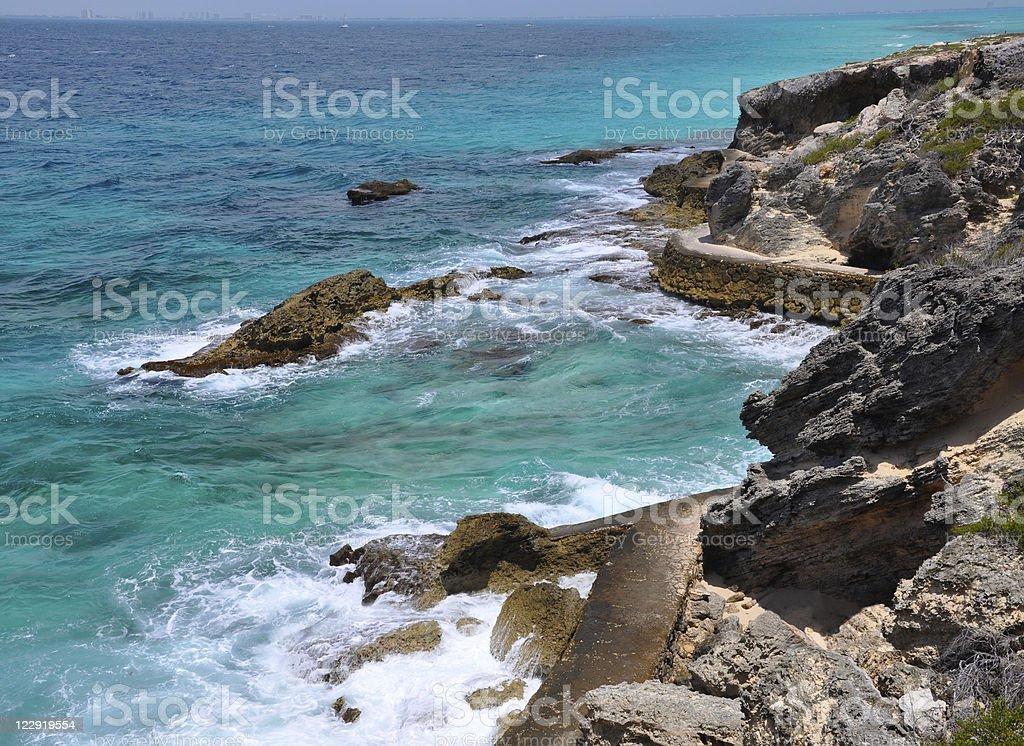 beautiful sea. Isla Mujeres (Women Island) stock photo