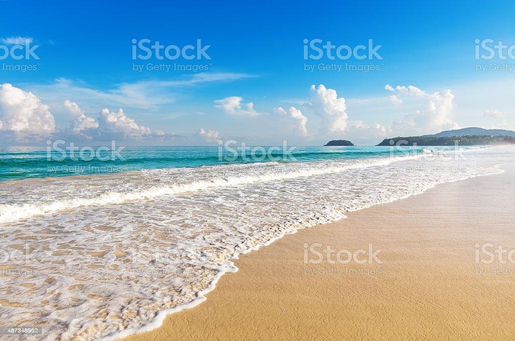 Beautiful sea. Karon beach, Phuket, Thailand. Asia stock photo