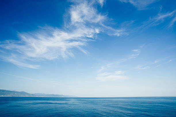 beautiful, sea landscape - clouds stock photos and pictures