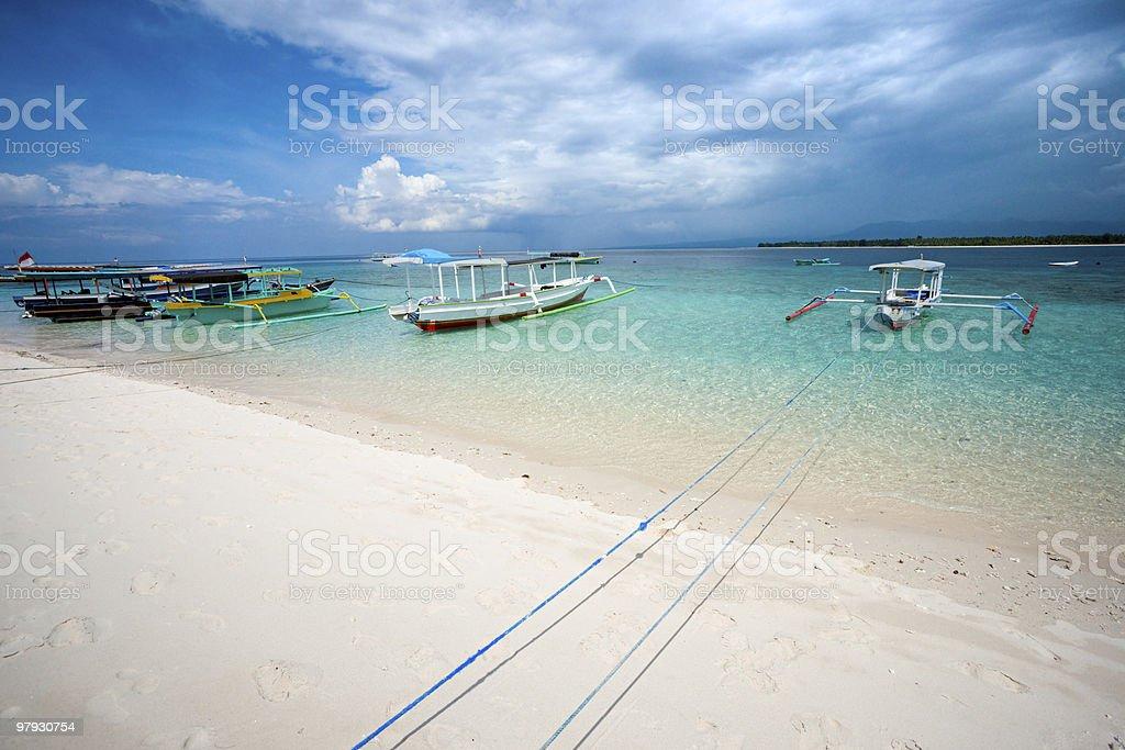 Beautiful sea of Gili Meno, Indonesia. royalty-free stock photo
