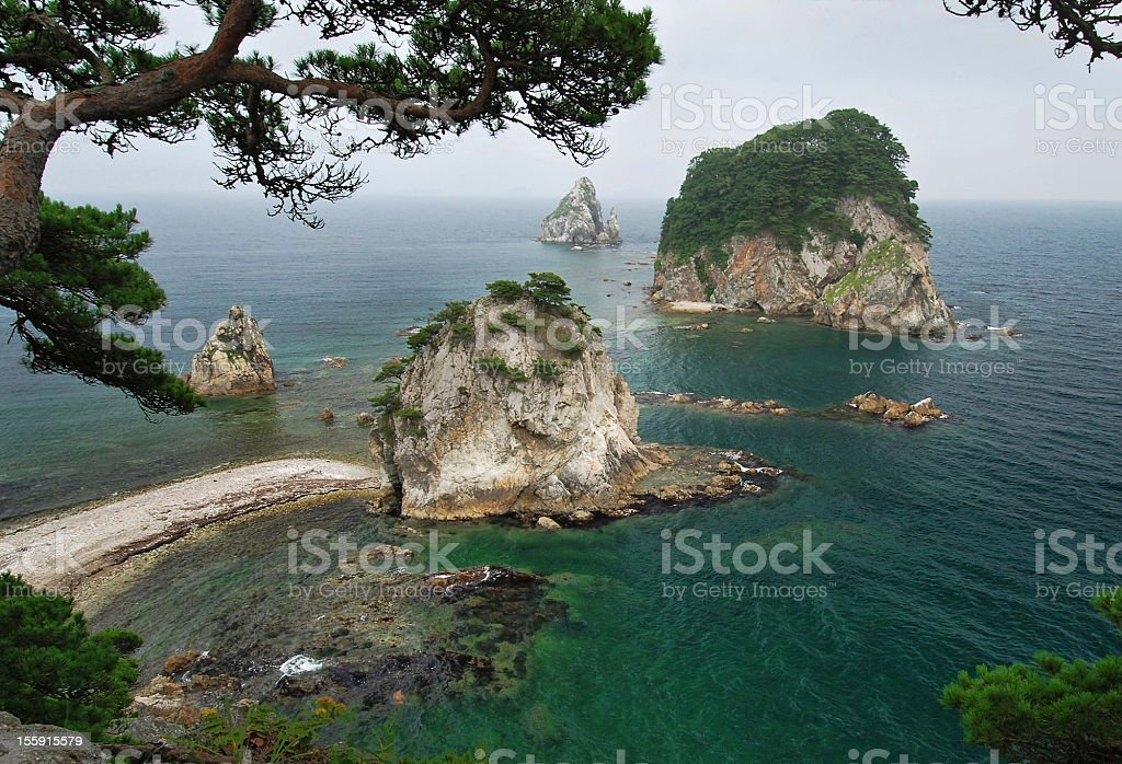 Beautiful, Sea of Japan, Primorye, Russia stock photo