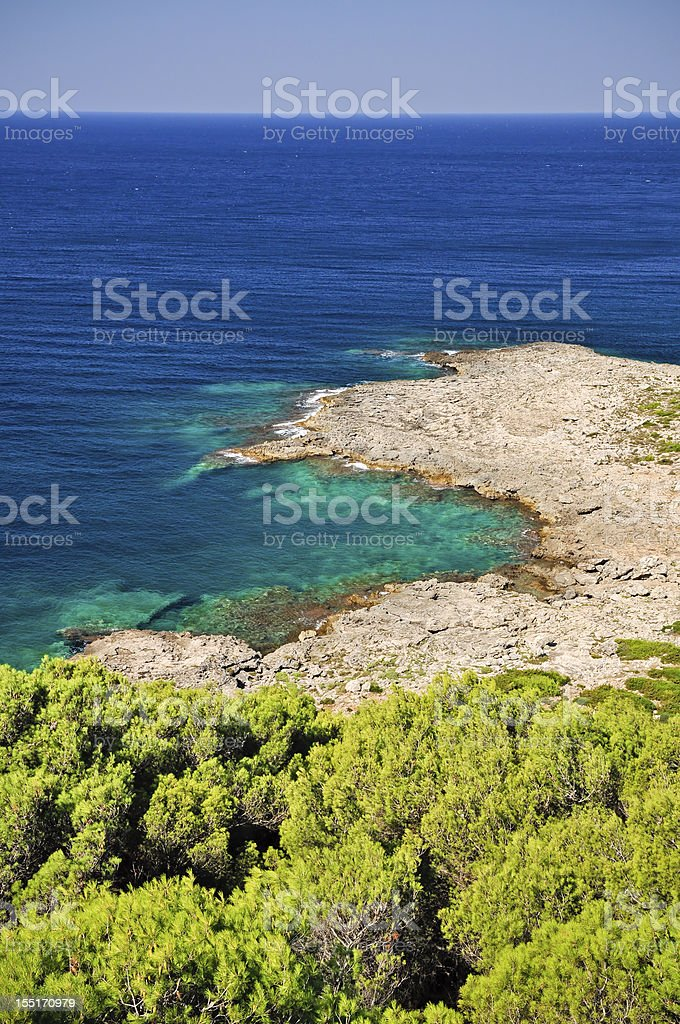 Beautiful sea of Porto Selvaggio royalty-free stock photo